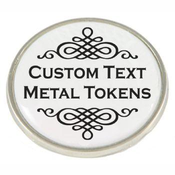 Text message metal token